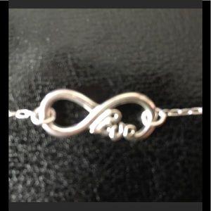 Infinity Love Bracelet 92.5 Silver